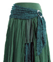 Layered Skirt with Brooch