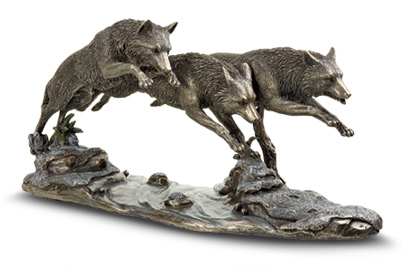 Wolf Trio Sculpture