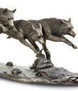 Wolf Trio Sculpture