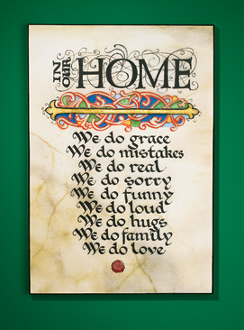 In Our Home Plaque