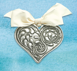 Pewter Heart Wall Ornament