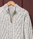 Aran Zip Pullover