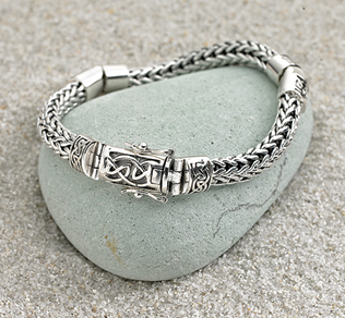 Dragon-weave Bracelet with Celtic Clasp