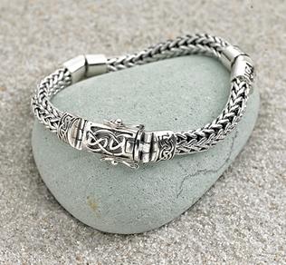 Dragon-weave Bracelet with Celtic Clasp