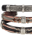 Celtic Leather Bracelets with Metal