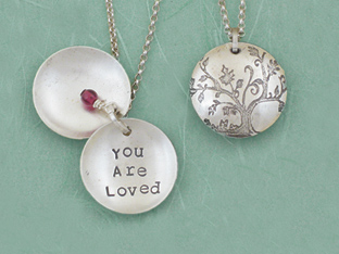 You Are Loved Clamshell Pendant