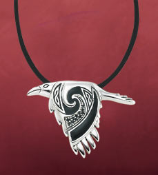 Flying Raven Pendant