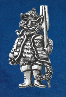 Fishing Cat Brooch