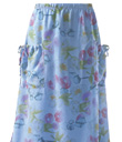 Drawstring-Pocket Print Skirt