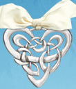 Entwined in My Heart Pewter Ornament