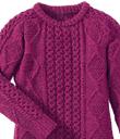 Marled Raspberry Sweater