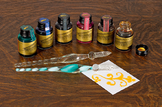 Glass Pen and Ink Set