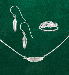 Tiny Feather Jewelry