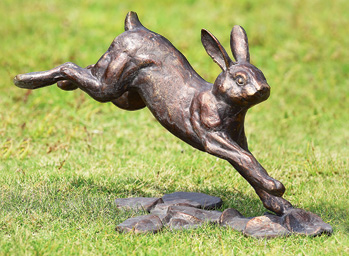 Superieur Cast Iron Rabbit Garden Sculpture Warm Sun, Whispering Wind, Soft Ground  And The Scent Of Flowers And Greenery   In The Exuberant Leap Of A Rabbit  Is The ...