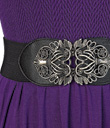 Ornate Buckled Stretchy Belt