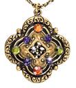 Bejeweled Quatrefoil Pendant