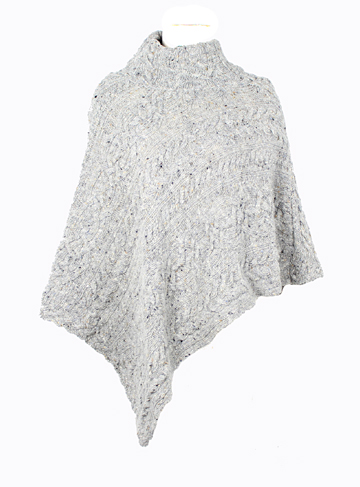 Cable Knit Poncho, : GaelSong