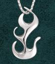 Beltane Fire Pendant - Sterling Silver
