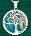 Scottish Heathergems Tree of Life Pendant & Earrings - Heathergems Tree of Life Pendant