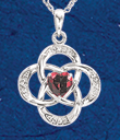 Birthstone Knotwork Pendant