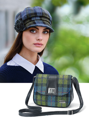 Plaid Cap and Purse