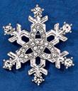 Trinity Knot Snowflake Brooch