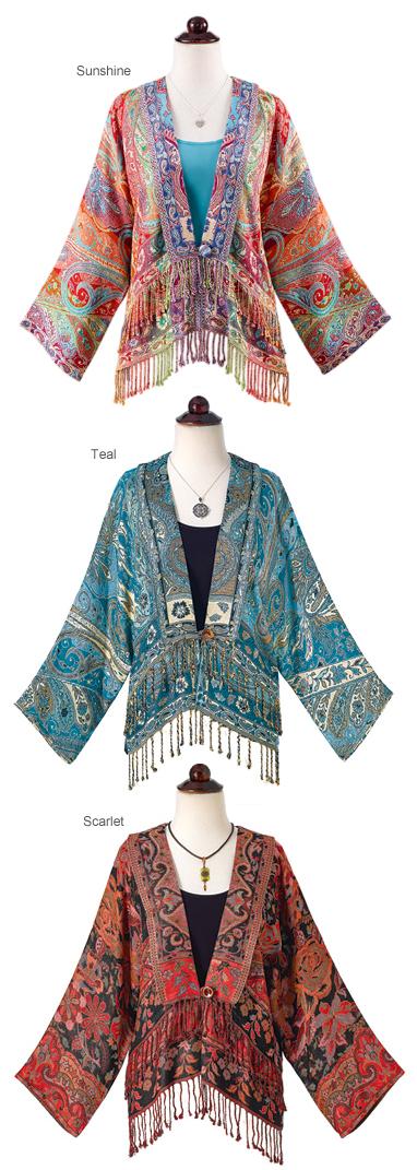 Exotic Short Jacket with Fringe
