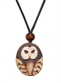 Ceramic Owl Pendant