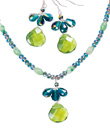 Green Briolette Jewelry