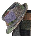 Tweed Patchwork Fedora
