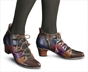 Color-Blocked Leather Ghillies