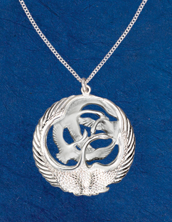 Pendants necklaces children of lir pendant children of lir pendant in celtic legend the children of lir were magically transformed into swans who remained together for centuries singing hauntingly aloadofball Gallery
