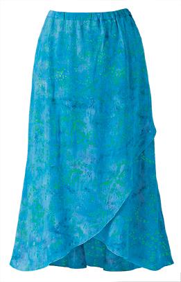 Batik Wrap-front Skirt