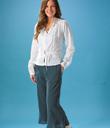 Peplum Top & Ruffle-Hem Pants