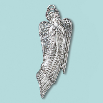 Small Angel Heart Ornament