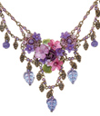 Purple Posies Necklace