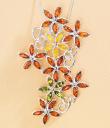 Amber Flowers Pin/Pendant