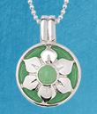 Jade Flower Pendant