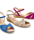 Jewel-Tone Nubuck Sandals