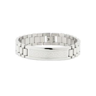 Knotwork Steel Link Bracelet
