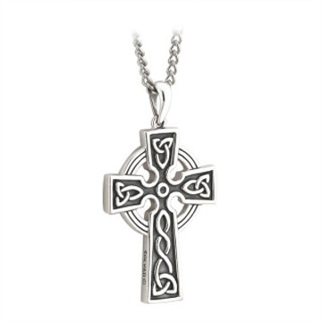Oxidized Celtic Cross Pendant