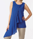 Tank Top with Asymmetrical Layers