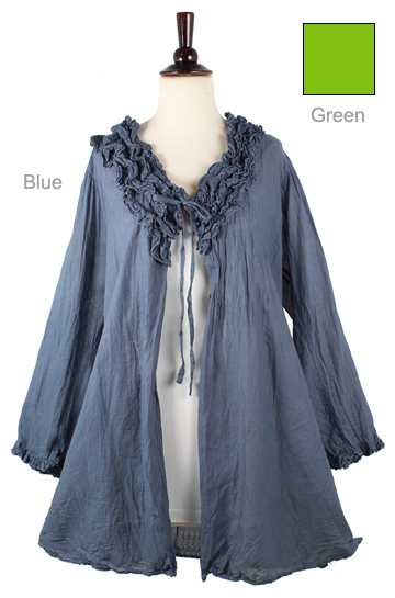 Ruffled Cotton Coverup