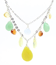 Teardrops Overlay Necklace