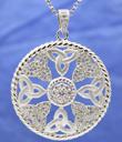 Trinity Knot Cubic Zirconia Pendant