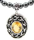 Aran Citrine with Hematite Necklace
