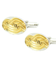 Silver and Gilted Manuscript Cufflinks