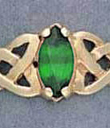 Trinity Knot Green Marquise Ring