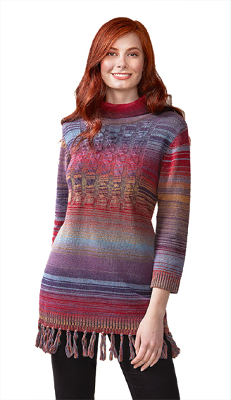 Space-dyed Fringed Tunic