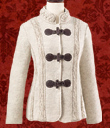 Elegant Wool Toggle Jacket